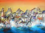 zebras by 0becomingX