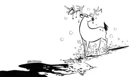 Magical deer by 0becomingX