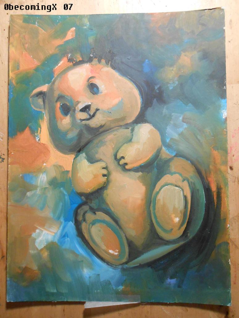 teddy bear by 0becomingX