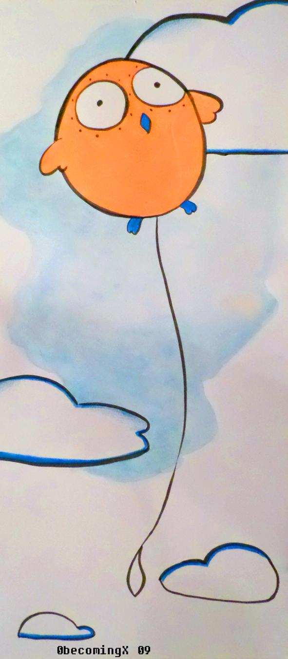 Owl balloon by 0becomingX