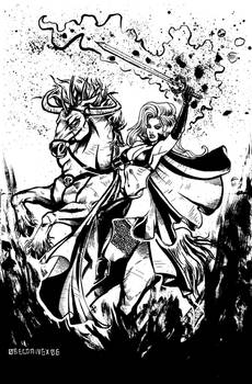Lady Death on Charger