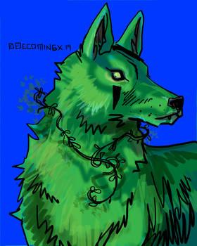 Idmu as wolf