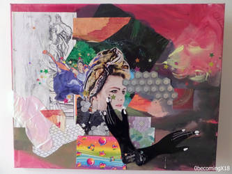 collage painting mixed