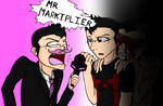 Markiplier, Wilford, and some guy...