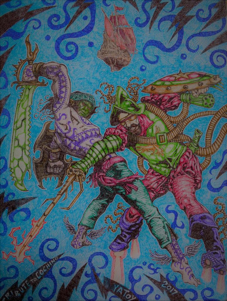 Tribute to Coching : Lapu-Lapu vs Magellan by yatoy