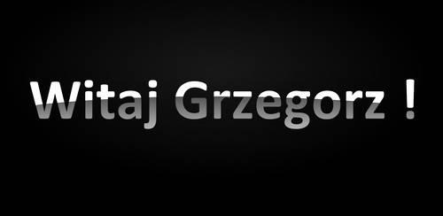Witaj Grzegorz