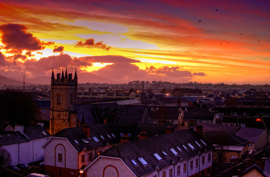 tralee sunset by oeminler