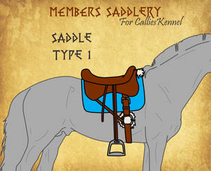 Saddle Type 1 for CalliesKennel by BlueAlexArts