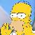 Simpsons Homer Heckling Icon by happaxgamma