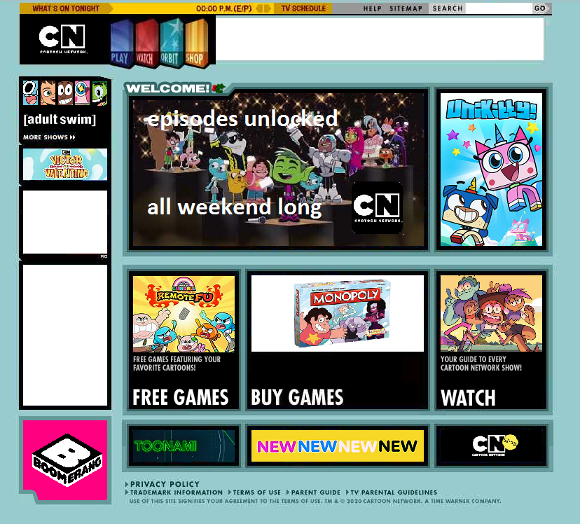 Old Cartoon Network Website Updated By Happaxgamma On Deviantart