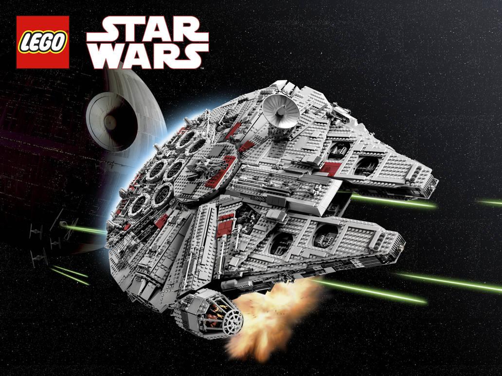 Lego Star Wars Millenium Falcon Wallpaper By Happaxgamma On Deviantart
