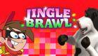 Jingle Brawl Games Button 2009 Rare