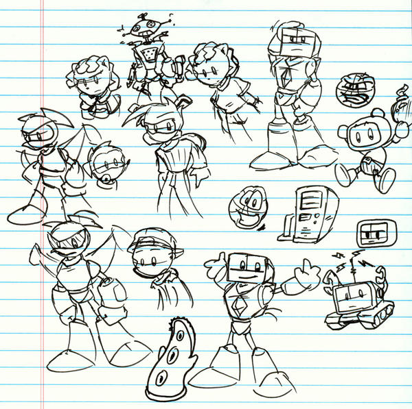 Cute Robot Doodles Staccato And Robot Doodles by
