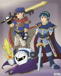 Ike, Marth + Metaknight Poster