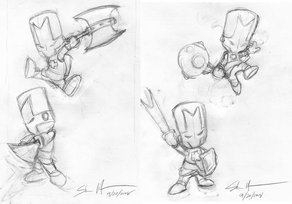Castle Crashers Sketches by StacMasterS