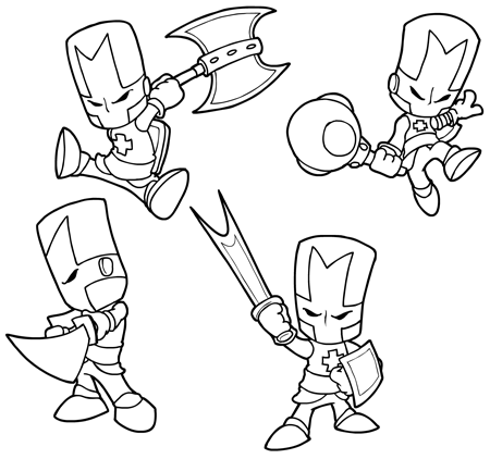 Castle Crashers Inked by StacMasterS