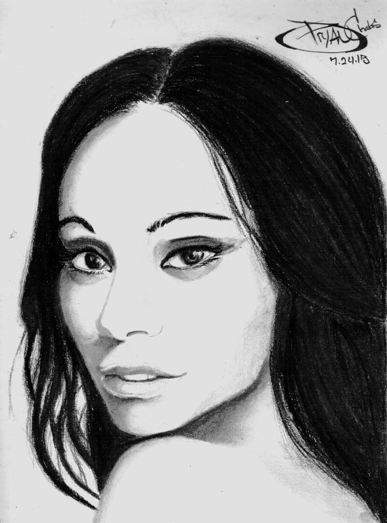 Zoe Saldana by BryanChalas