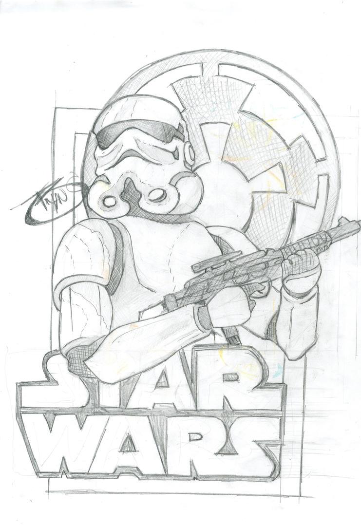 Starwars illustration sketch by BryanChalas