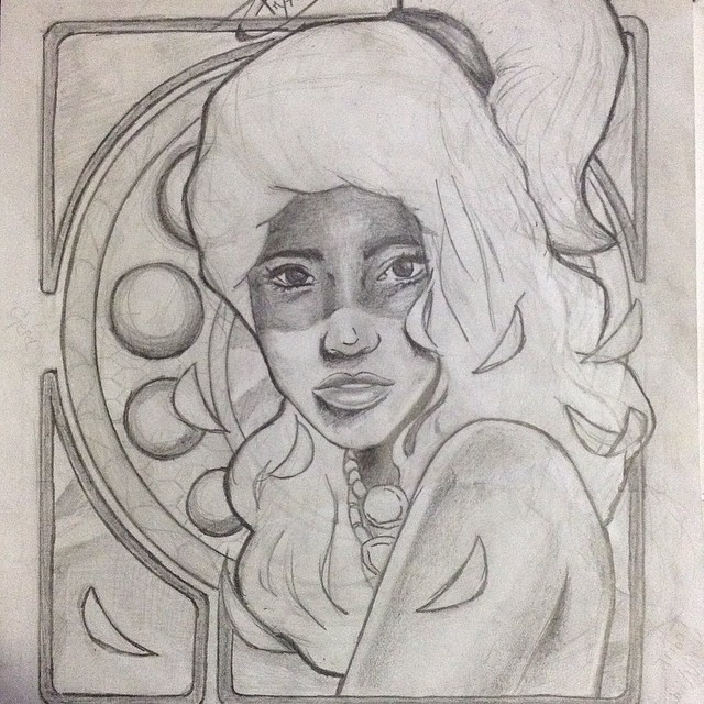 Art Nouveau Sketch by BryanChalas