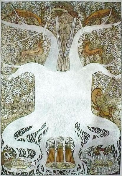 Ygdrasil the World tree by Hellanim