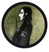 Severus Snape portrate by Hellanim