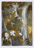Loki And Idunn by Hellanim