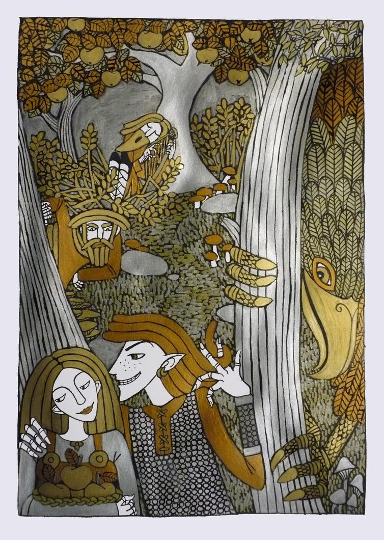 Image of Idun Kidnap Norse myth