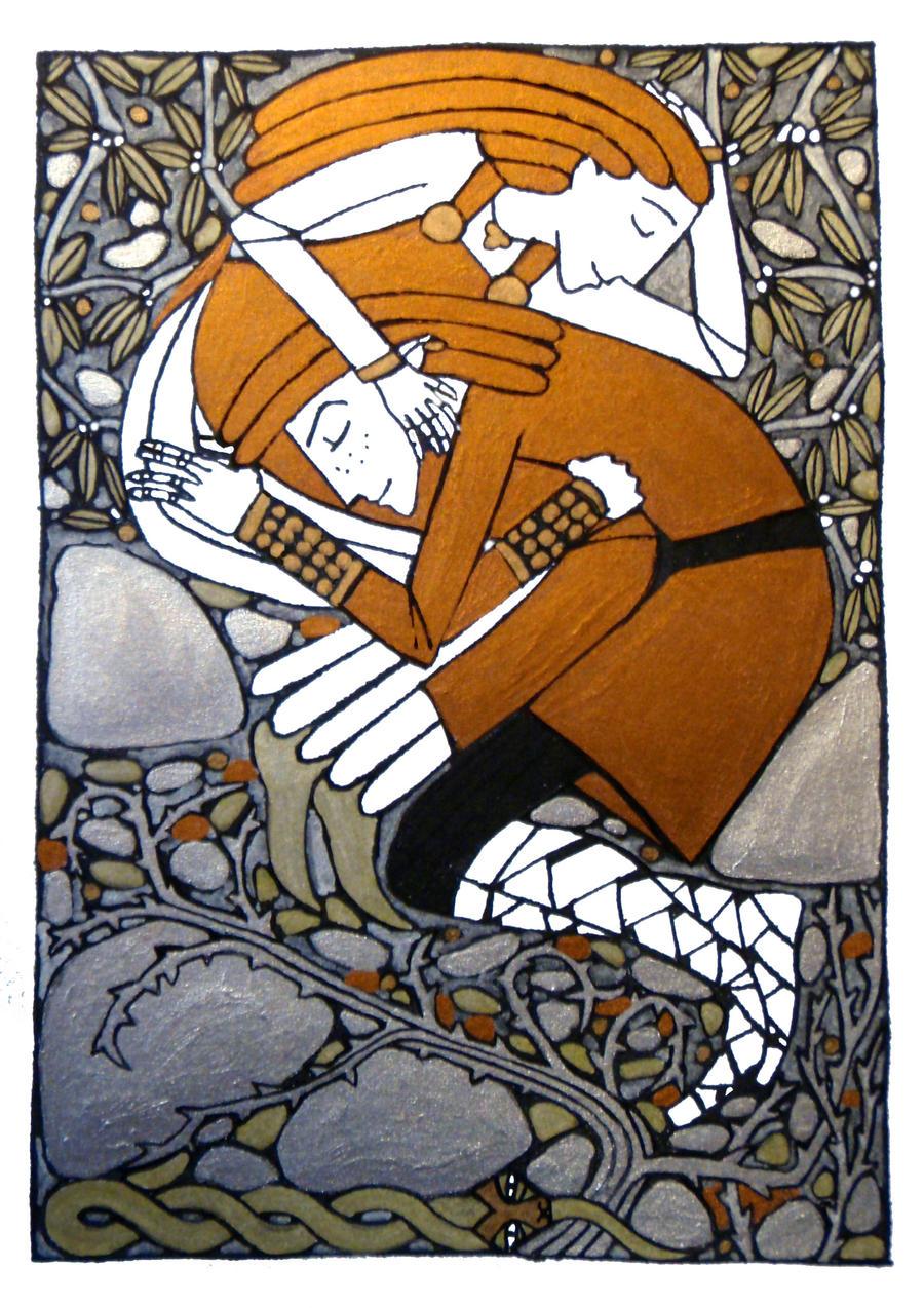 Loki and Sigyn by Hellanim