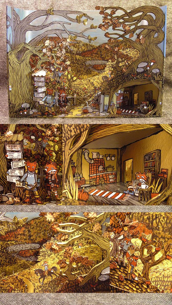 Merrell Diorama Contest My Golden Autumn by Hellanim
