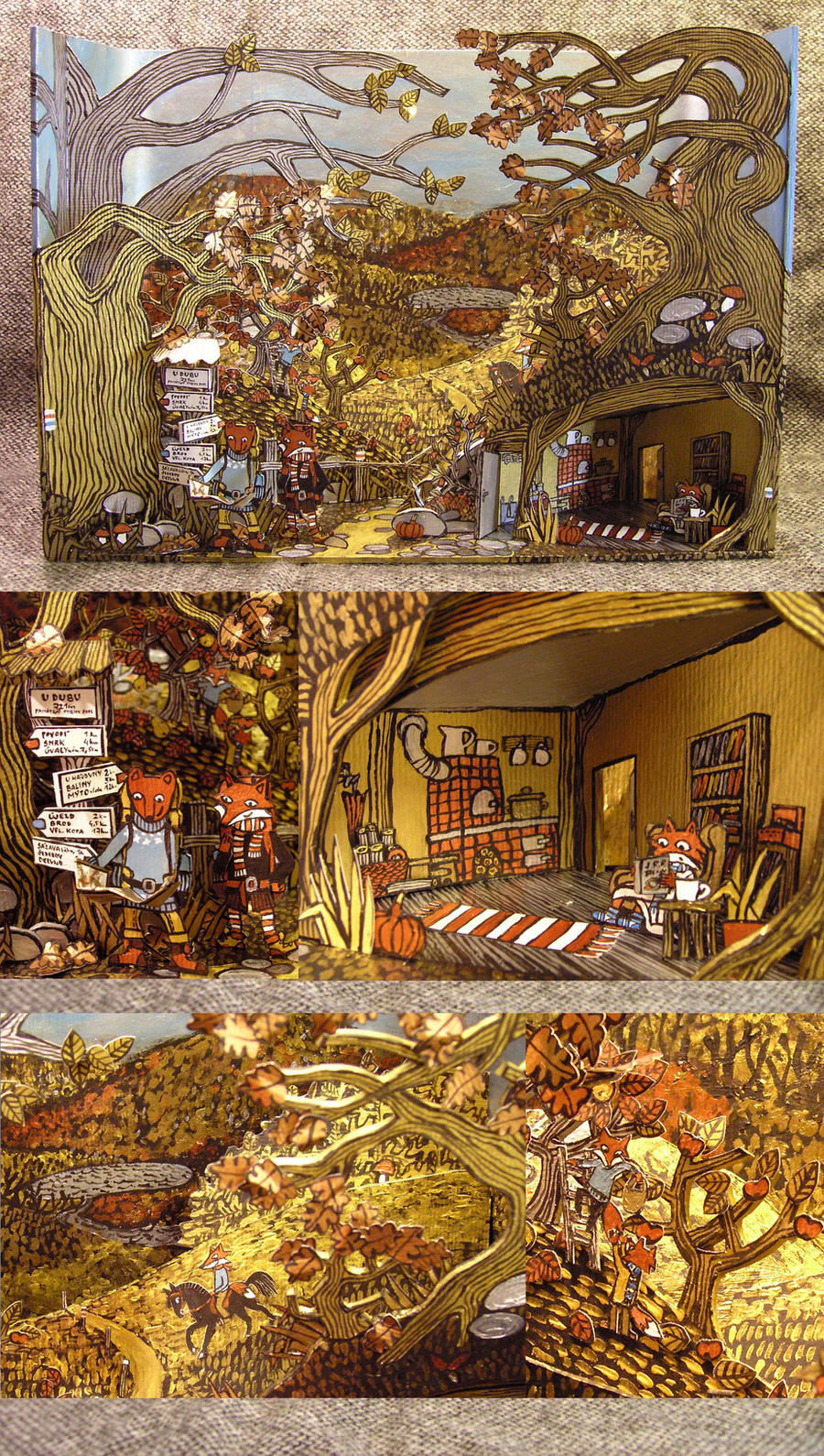 Merrell Diorama Contest My Golden Autumn by Hellanim
