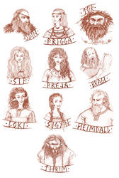 Thrimskvida main characters by Hellanim
