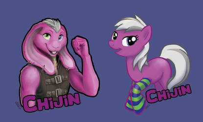 Chijin badges for MMC  by EosFoxx