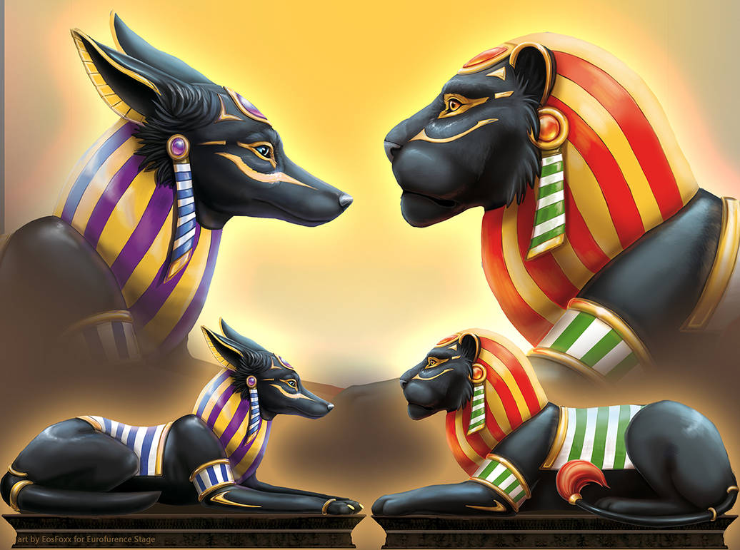 Anubis and Manares by EosFoxx