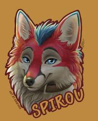 spirou badge