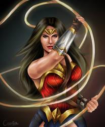 Diana of Themyscira by randomtenso
