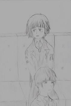 Akane and Yayoi stressing out