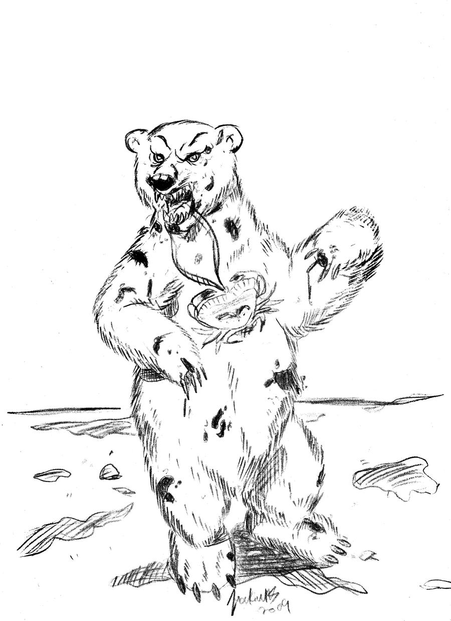 angry bear standing drawing - photo #39