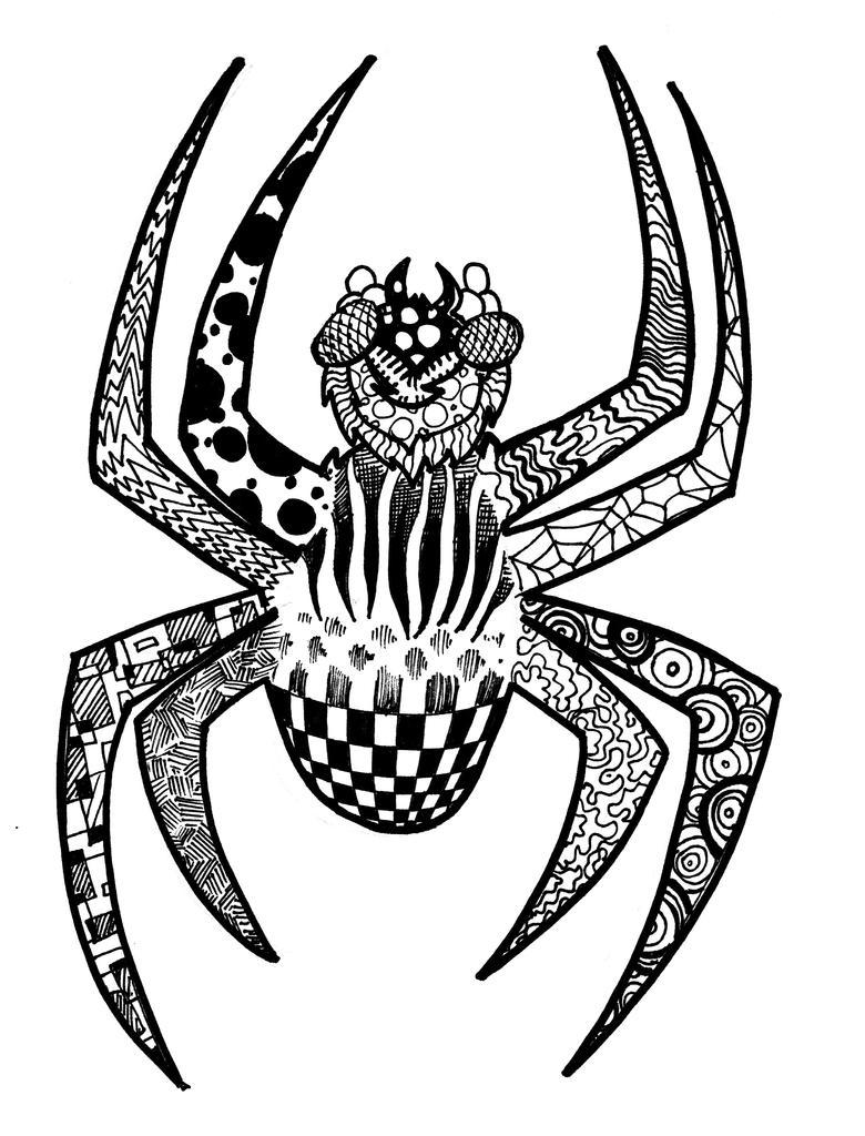 Zentangle Spider by NickMockoviak