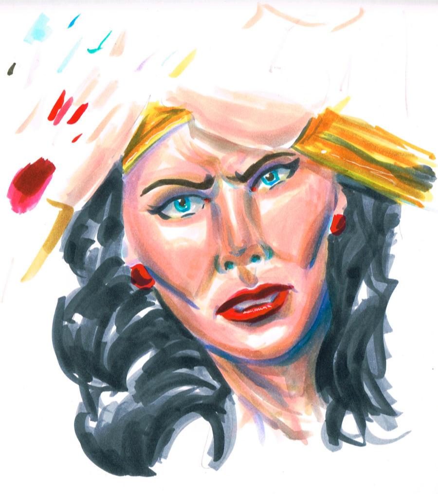 Wonder Woman color rough by NickMockoviak