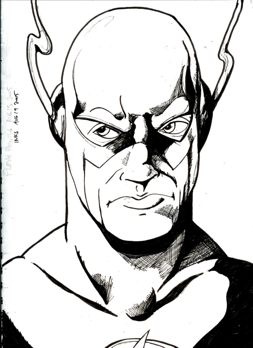 The Flash Line Art : The flash ink reference by nickmockoviak on deviantart