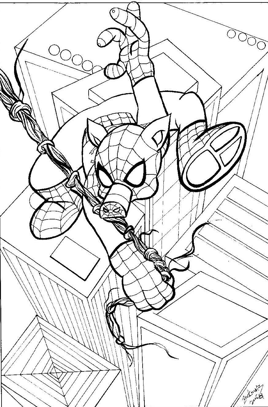 Spider Ham Coloring Pages Sketch Coloring Page