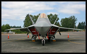 F-22 Raptor, front view by oOBrieOo