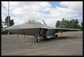 F-22 Raptor, side view by oOBrieOo