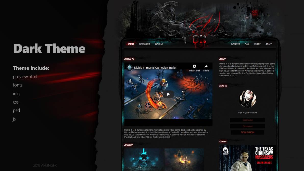 Dark Theme by GFX-AEON on DeviantArt