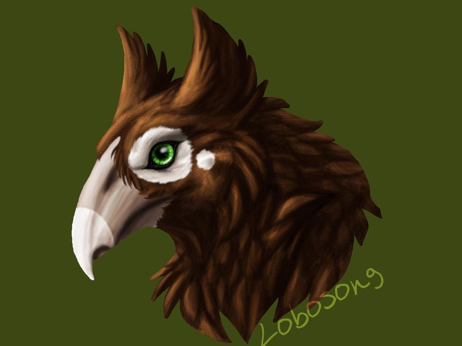 Hippogriff Headshot by LoboSong