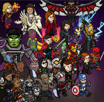 Habbo Avengers Endgame characters by que-miras93