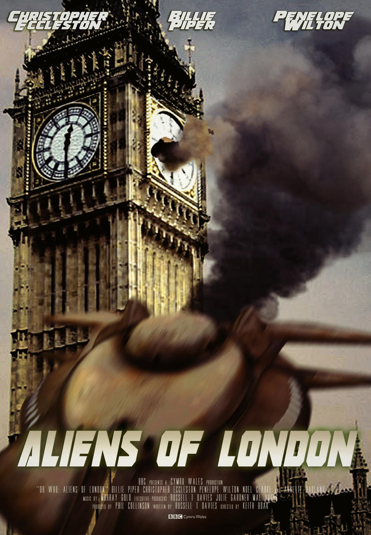 1x04 Aliens Of London Movie Poster By Janetvice