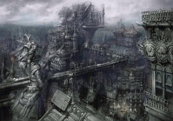 reconstructed  city by rabbiteyes