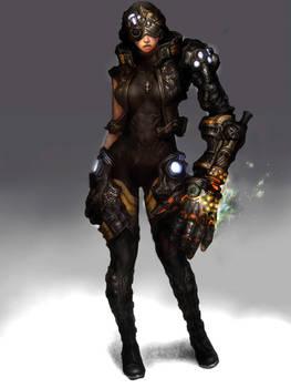 machine arm girl