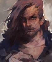rough man sketch by rabbiteyes